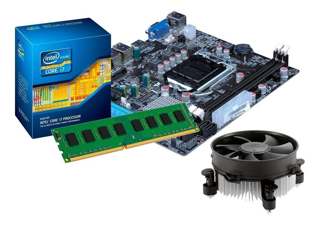 Kit Processador I7 3770 3 9 Ghz + Placa Mãe H61 + 16gb + Nf