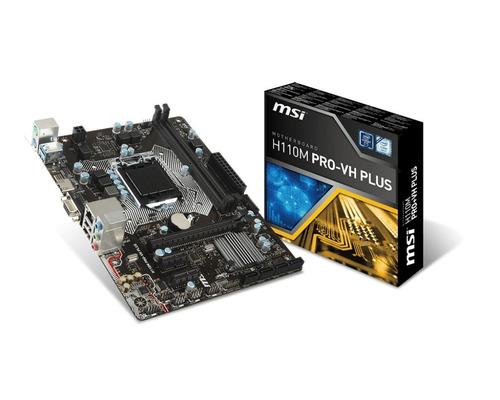 kit processador pentium g4560 placa mãe h110m pro vh plus i