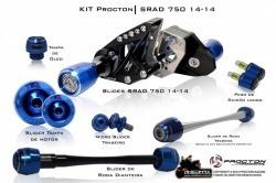 kit procton de slider da suzuki gsx750r srad750 2007 a 2013
