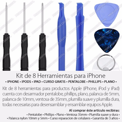 kit profecional de desarmadores para iphone 4 5 6 7