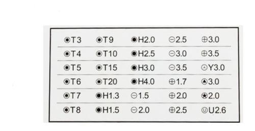 kit profesional de destornilladores 32 en 1+ pinza precision