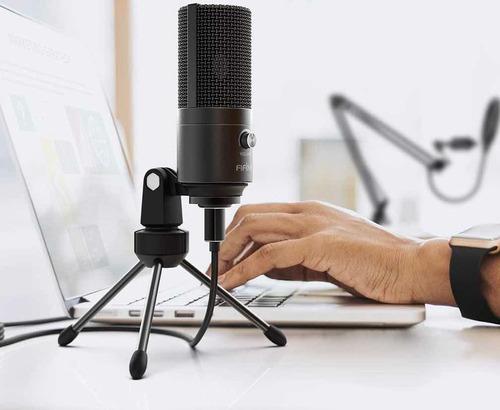 kit profesional de estudio con micrófono usb cod. t669