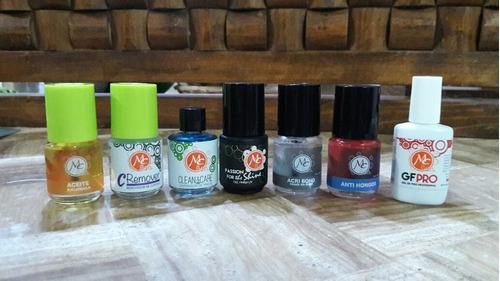 kit profesional para uñas acrílicas mc nails + regalo