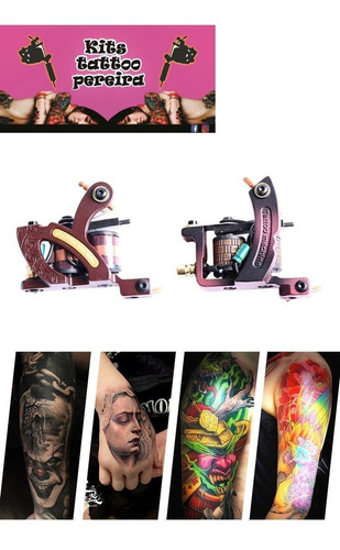 kit profesional tatuaje tatuar tattoo3 maquinas con rotativa