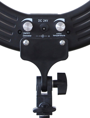 kit profissional iluminador led ring light bicolor 60w