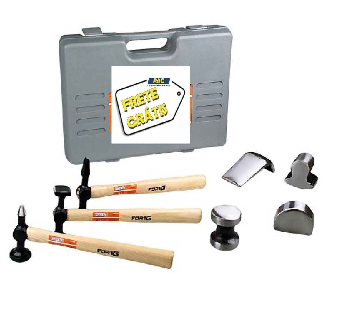 kit profissional para funilaria e pintura martelo tasso r 238