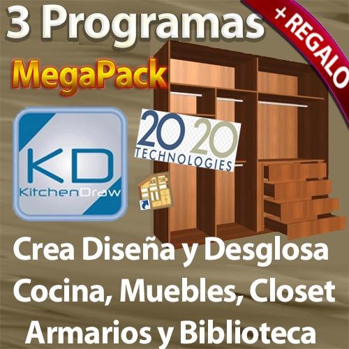 Kit programa para crear y desglosar muebles cocina y for Programas para hacer cocinas en 3d