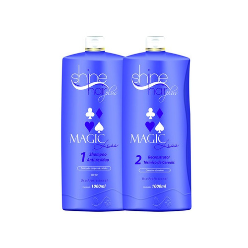kit progressiva magic liss 0% de formol shine hair plus 1l