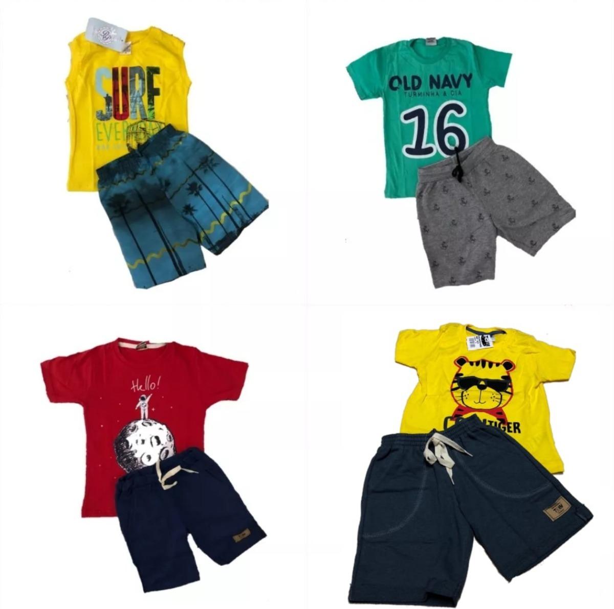 615d0484a kit promo roupa infantil 3 conjuntos menino de 1 a 14 anos. Carregando zoom.