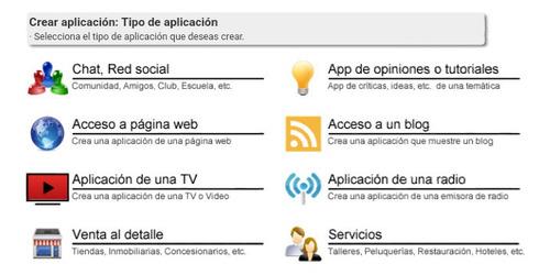 kit promocional página web+ aplicación android+ logo+ vídeo