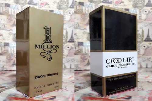 kit promoção perfumes masc/fem,1 million /good girl