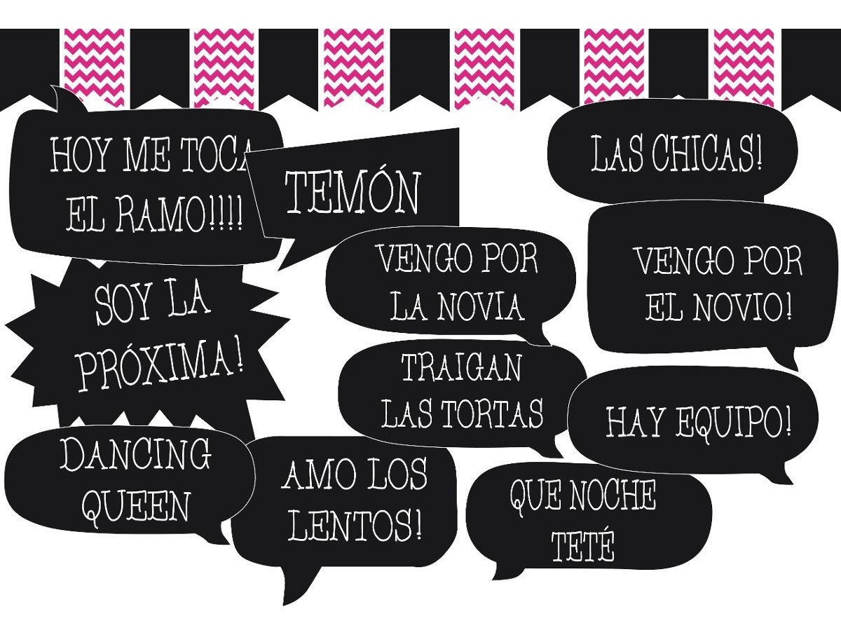 Kit Props Photo Booth Frases Casamiento 20 Unidades