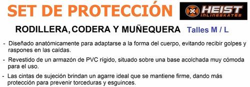 kit proteccion heist rodilleras, coderas y muñequeras