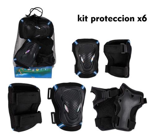 kit proteccion skate patinaje patineta coderas rodilleras x6