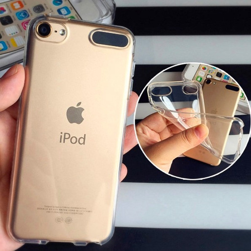 kit proteção capa tpu e película de vidro ipod touch 5 6
