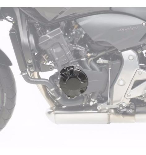 kit proteção carbono leovince motor honda hornet e cbr600f