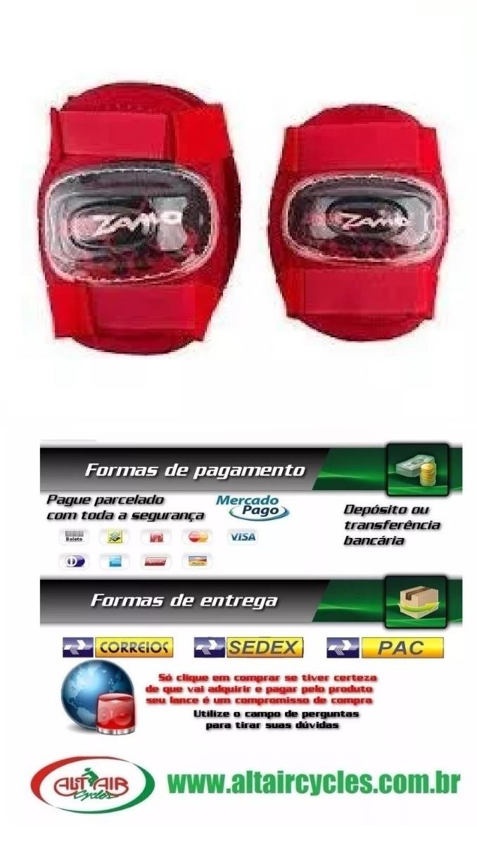 82aac865759 Kit Proteção Infantil Kidzamo Cotoveleira + Joelheira Bike - R  54 ...