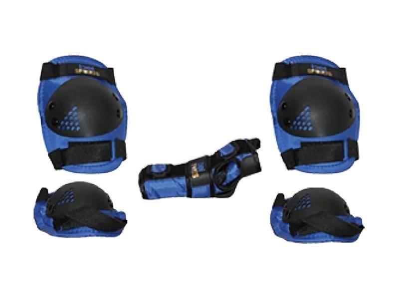 1f9343fc5 Kit Proteção Infantil S  Capacete Patins Skate Bike Azul G - R  77 ...