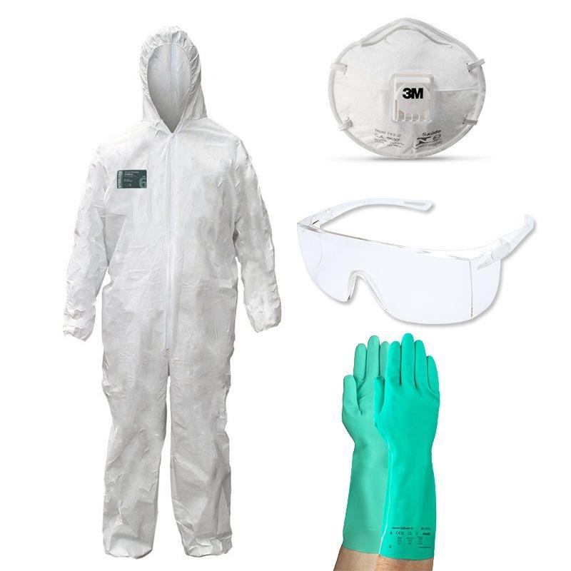 kit proteção pintura macacão + luva + mascara + óculos c  ca. Carregando  zoom. ba8c41abc6