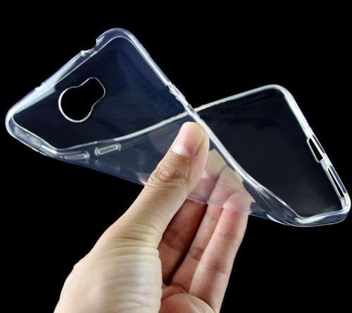 kit protector de silicona + vidrio templado huawei y5 2