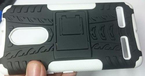 kit protector estuche armadura lenovo k6 + vidrio templado