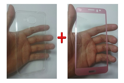 kit protector  huawei nova plus +templado 3d y silicona