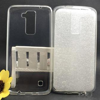 kit protector lg k8 silicona ultra slim + vidrio templado