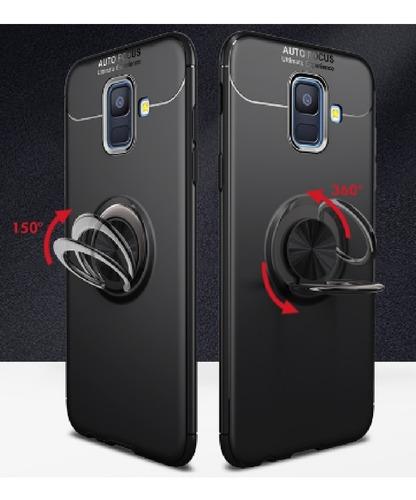 kit protector  ring case samsung galaxy a6 plus + vidrio 3d