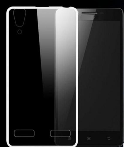 kit protector silicona slim lenovo k5 vibe + vidriotemplado