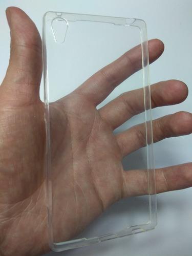 kit protector silicona + vidrio  sony xperia z3 plus o z4