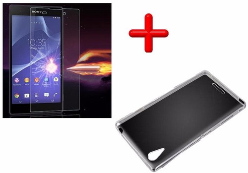 kit protector sony xperia t3 / m50w + protector templado kit