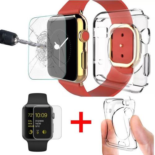 kit protector transparente + mica premium apple watch 38mm
