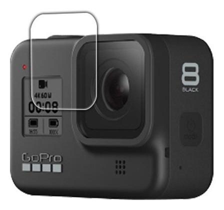 kit protector vidrio templado cámara gopro 8 black 3 pcs