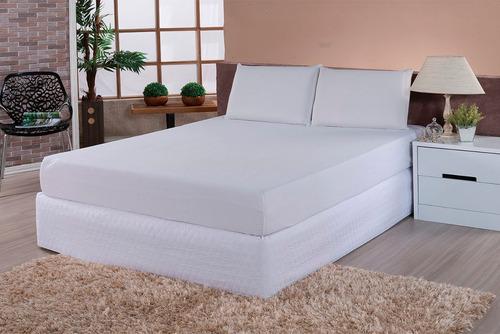 kit protetor de colchão e travesseiro impermeável solteiro s