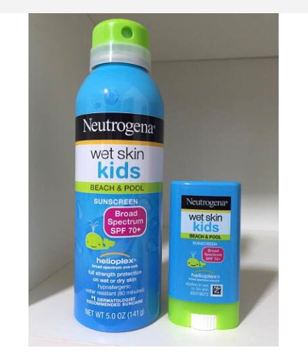 ab9a067fe Kit Protetor Solar Neutrogena Spray+bastão Kids-fps70 - R  169