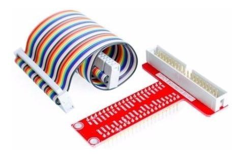 kit protoboard mb102-cabo flat modelo gpio+placa