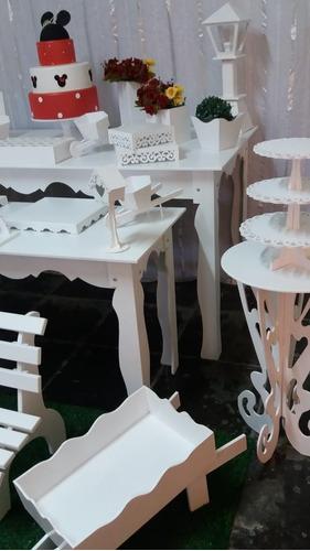 kit provençal branco 33 peças decoração de festa! 17