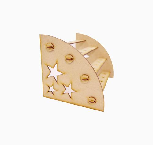 kit provençal completo mdf para festa 13 peças estrela
