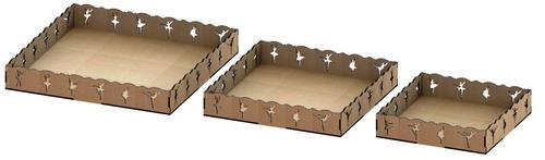 kit provençal decoração de festas 3 peças mdf - kit-03-15