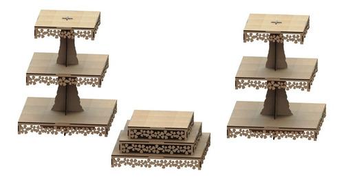 kit provençal decoração de festas 3 peças mdf - kit-03-21