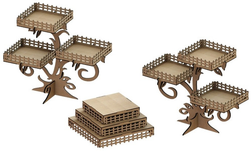 kit provençal decoração de festas 3 peças mdf - kit-05-02
