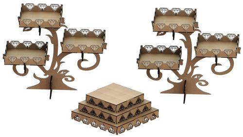 kit provençal decoração de festas 3 peças mdf - kit-05-22