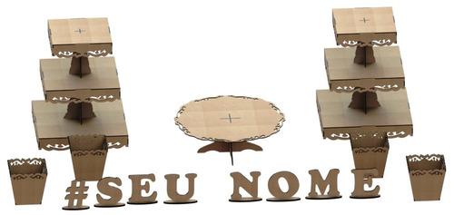 kit provençal decoração de festas 7 peças +1 mdf - kit-06-03