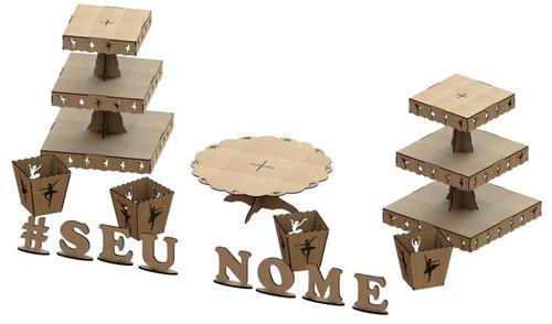 kit provençal decoração de festas 7 peças +1 mdf - kit-06-15