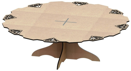 kit provençal decoração de festas 7 peças +1 mdf - kit-06-22