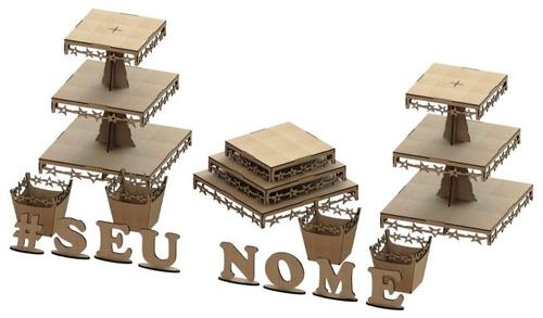 kit provençal decoração de festas 7 peças +1 mdf - kit-07-10