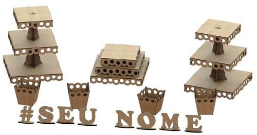 kit provençal decoração de festas 7 peças +1 mdf - kit-07-17