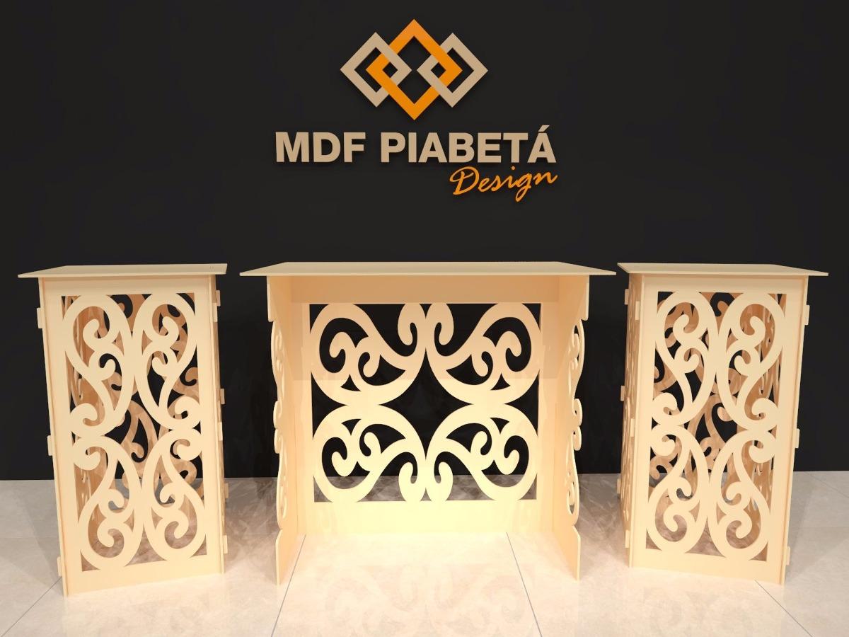 kit proven al mdf arabesco decora o festa 1 mesa 2. Black Bedroom Furniture Sets. Home Design Ideas