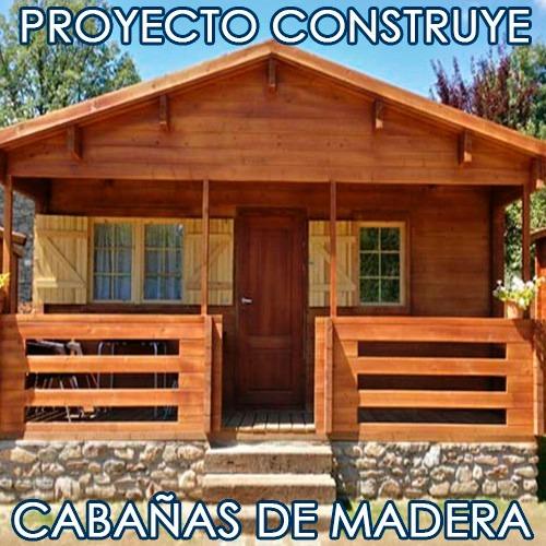 Kit proyecto construye casas caba as madera planos ideas bs 50 00 en mercado libre - Cabanas de madera economicas ...