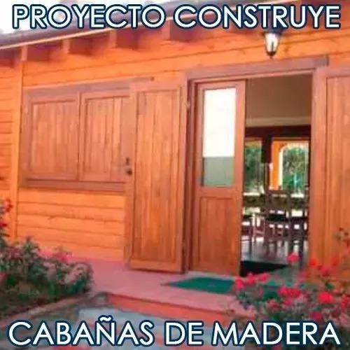 kit proyecto construye casas cabañas madera planos ideas